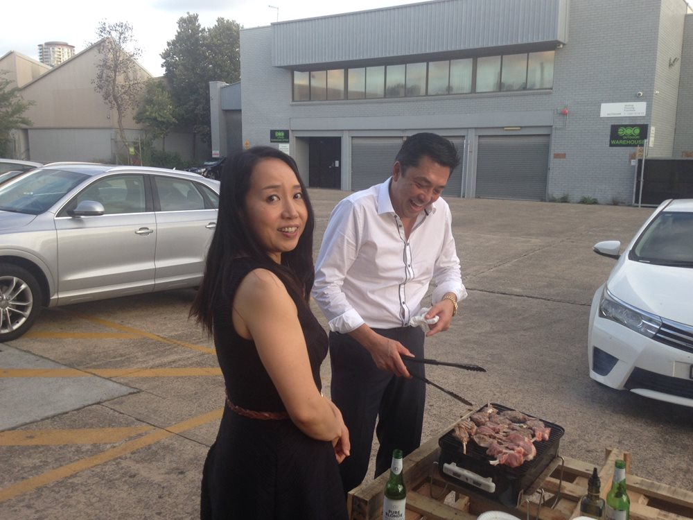 INFINITY MARCH STAFF BBQ