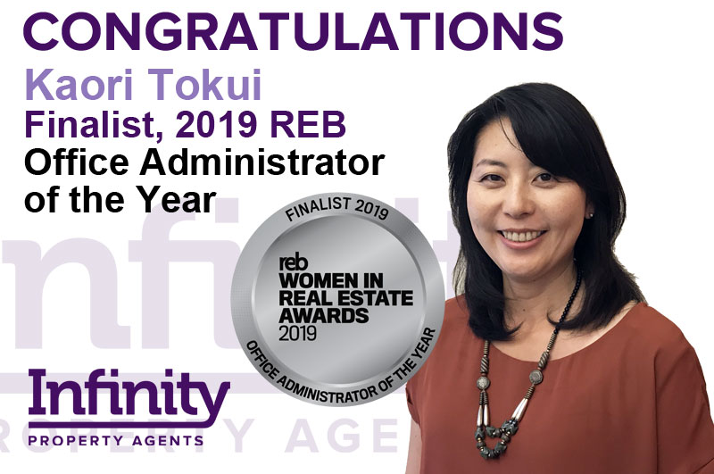Kaori Tokui has been shortlisted for the Women in in Real Estate Awards 2019.